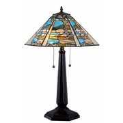 "Kenroy Home Ocean Wash 32376BL 24"" Table Lamp, Black"