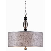 "Kenroy Home Rapunzel 93340BS 10"" 3-Light Pendant, Brushed Steel"