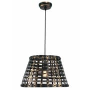 "Kenroy Home Yarmouth 93445BL 12"" 1-Light Pendant, Black"
