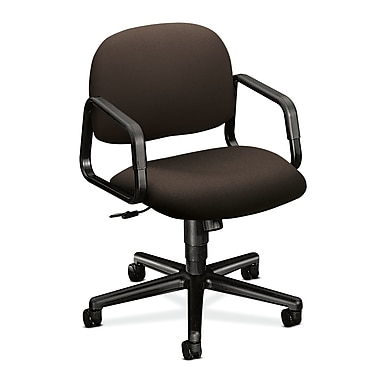 HON Solutions Seating Mid-Back Task Chair with Center-Tilt, Espresso Polyester Fabric