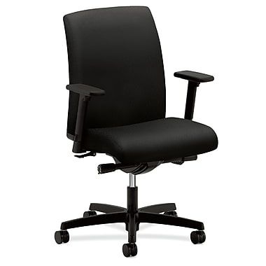 HON Ignition Mesh Task Chair, Black Fabric