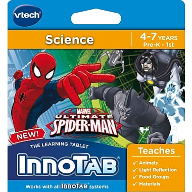 VTech – Cartouche téléchargeable InnoTab, The Ultimate Spiderman, anglais