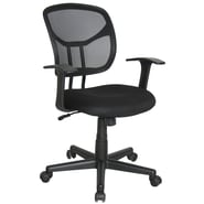 OFM™ Essentials Fabric Task Chair With Mesh Back, Black