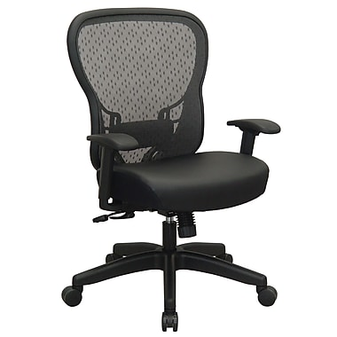 Space R2 SpaceGrid Back with Memory Foam Seat and Synchro Tilt, Black