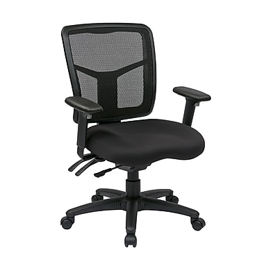 Pro-Line ProGrid Back Managers Chair with Adjustable Arms and Ratchet Back, Black