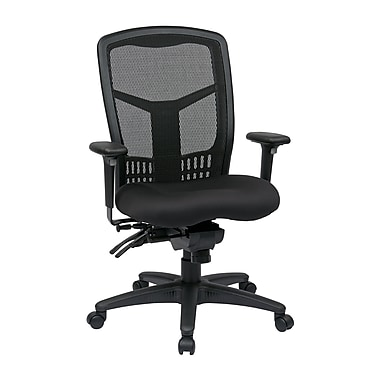 Pro-Line ProGrid Back High Back Chair with Adjustable Arms, Seat Slider, Multi-Function Control, Black