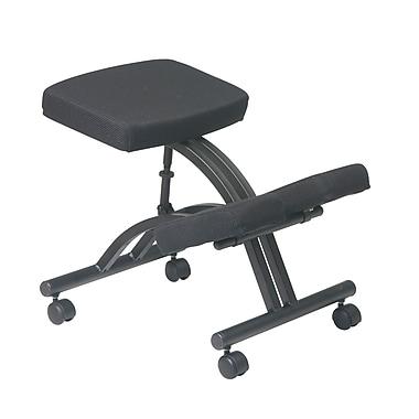 Work Smart Ergonomic Knee Chair with Memory Foam, Black