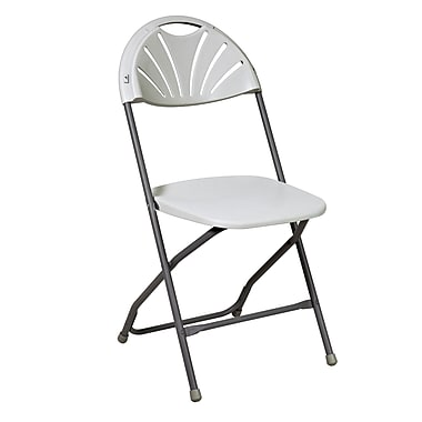 Work Smart Plastic Folding Chair, 4/Pack