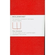 Moleskine Plain Notebook, Red