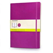 Moleskine Classic Colored Plain Notebook Extra Large, Orchid Purple