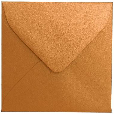 JAM Paper® 3.125 x 3.125 Mini Square Envelopes, Stardream Metallic Copper, 100/Pack (V018242A)