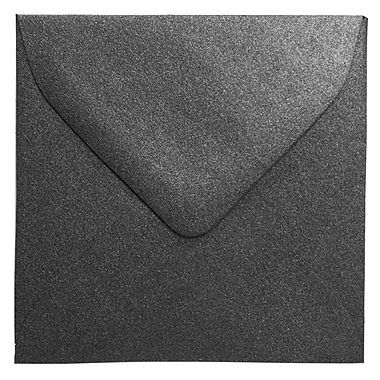 JAM Paper® 3.125 x 3.125 Mini Square Envelopes, Stardream Metallic Anthracite Black, 100/Pack (V018241A)