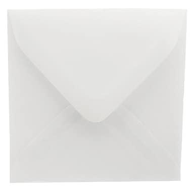 JAM Paper® 3.125 x 3.125 Mini Square Envelopes, Clear Translucent Vellum, 100/Pack (2851291A)