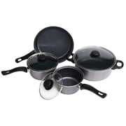 HDS TRADING CORP Non-Stick 7-Piece Cookware Set I