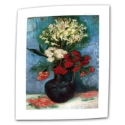 ArtWall Vase w/ Carnations and Other Flowers by Vincent van Gogh Painting Print on Rolled Canvas