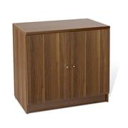 "Jesper Office 100 Collection 29"" Laminate Door Storage Cabinet, Walnut"