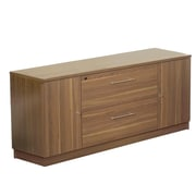 "Jesper Office 100 Collection 29"" Laminate Credenza Cabinet, Walnut"