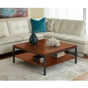 "Jesper Office Parson 17"" x 39"" x 39"" Wood Coffee Table, Cherry"