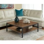 "Jesper Office Parson 17"" x 39"" x 39"" Wood Coffee Table, Walnut"