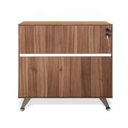 "Jesper Office 300 Collection 32"" Melamine Filing Cabinet, Walnut"