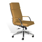 Jesper Office Greta Leather Office Chair with Arms, Mustard