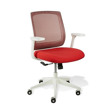 Jesper Office Camilla Fabric Office Chair With Arms Red Staples