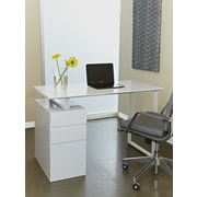 "Jesper Office Tribeca 220-WH 47.5"" Manufactured Wood Writing Desk, White"
