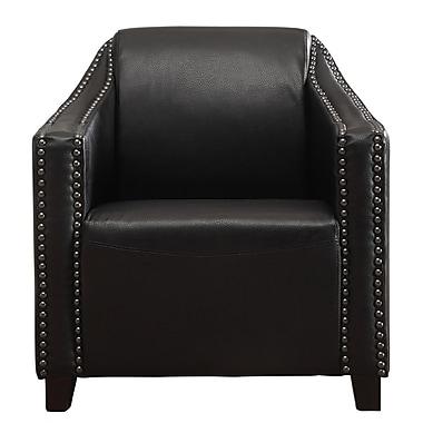 !nspire – Fauteuil en cuir reconstitué avec clous, noir