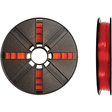 MakerBot 1.75 mm PLA Filament, Small Spool, 0.5 lb., Translucent Red