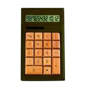 Impecca Standard Function Calculator, Walnut