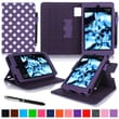 "roocase Dual View Folio Case Cover Stand For Amazon Kindle Fire HD 6"", Purple"