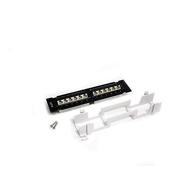 StarTech.com 12 Port 1U Wall Mount Cat 6 110 Patch Panel, 45 Degree