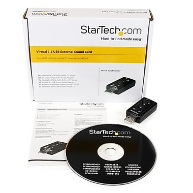 StarTech.com Virtual 7.1 USB Stereo Audio Adapter External Sound Card