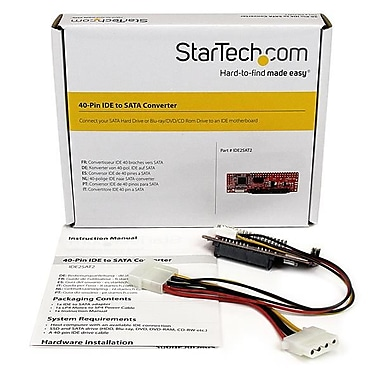 StarTech.com IDE to SATA Hard Drive or Optical Drive Adapter, 40-Pin PATA to 2.5