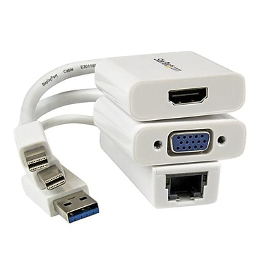 StarTech.com Macbook Air® Accessories Kit, MDP to VGA / HDMI® and USB 3.0 Gigabit Ethernet Adapter