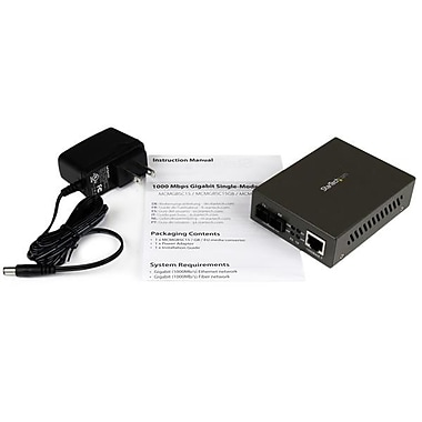 StarTech.com 1000 Mbps Gigabit Single-Mode Fiber Ethernet Media Converter SC 15km
