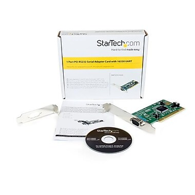 StarTech.com 1 Port PCI RS232 Serial Adapter Card with 16550 UART