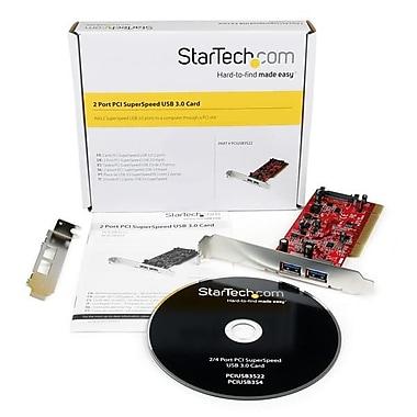 StarTech.com – Carte adaptateur PCI à 2 ports USB 3.0 SuperSpeed avec connecteur d'alimentation SATA