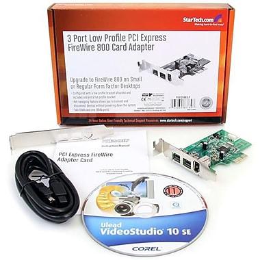 StarTech – Carte Adaptateur PCI Express vers 3 Ports FireWire - Faible encombrement