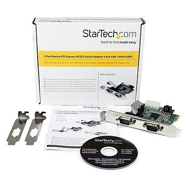 StarTech.com – Carte adaptateur PCI Express natif à 2 ports série RS-232 avec émetteur-récepteur 16950 UART