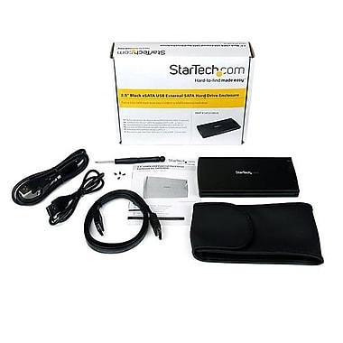 StarTech.com 2.5in Black eSATA USB External Hard Drive Enclosure for SATA HDD