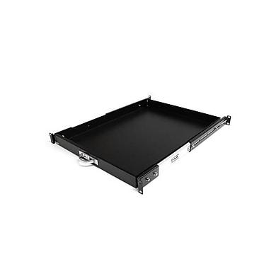 StarTech.com – Étagère d'armoire coulissante de 22 po de profondeur pour bâti ou armoire de serveur, noir