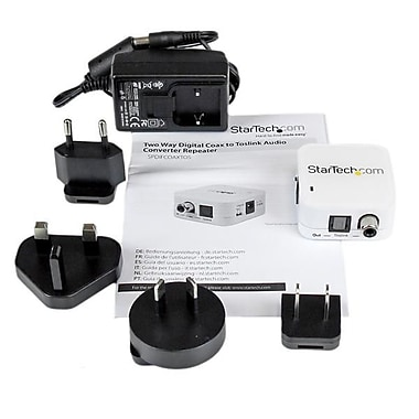 StarTech.com – Coaxial à deux chemins vers convertisseur-répétiteur audio à Toslink-optique