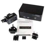 StarTech.com – Commutateur KVM USB 2 écrans DVI VGA 2 ports avec concentrateur audio et USB 2.0