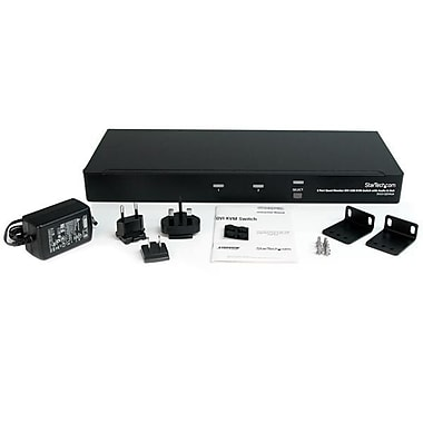 StarTech.com 2 Port Quad Monitor Dual-Link DVI USB KVM Switch with Audio & Hub