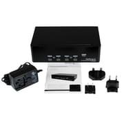 StarTech.com – Commutateur KVM USB double DVI à 4 ports avec concentrateur audio et USB 2.0