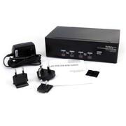 StarTech – Commutateur KVM USB 2 écrans DVI VGA 4 ports avec audio et concentrateur USB 2.0