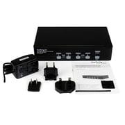 StarTech.com – Commutateur KVM USB DVI à 4 ports haute résolution double lien avec Audio