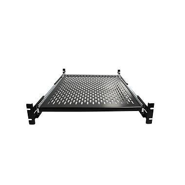 StarTech.com 2U Adjustable Mounting Depth Vented Sliding Rack Mount Shelf, 50lbs / 22.7kg