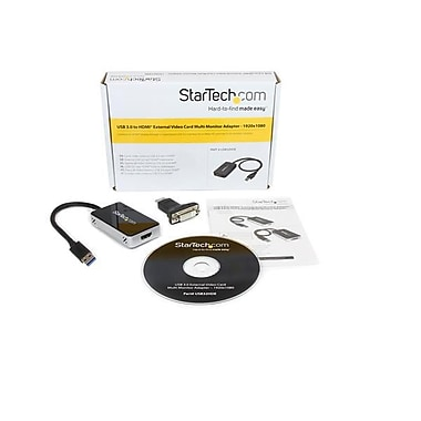 StarTech.com USB 3.0 to HDMI® / DVI External Video Card Multi Monitor Adapter, 1920x1080